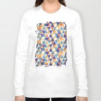 triangles Long Sleeve T-shirts featuring TRIANGLES by Kiley Victoria