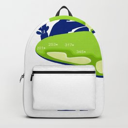 Golfer Caddie Golf Course Retro Backpack