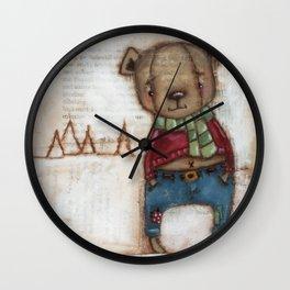 Cozy Bear Boy Wall Clock