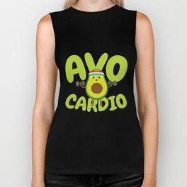 Avo Cardio - Fitness Avocado Biker Tank