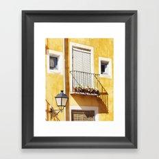 Spanish balcony Framed Art Print