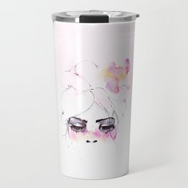 Speechless Girl - My pink sadness in watercolors Travel Mug