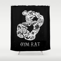 rat Shower Curtains featuring Gym Rat by Textures