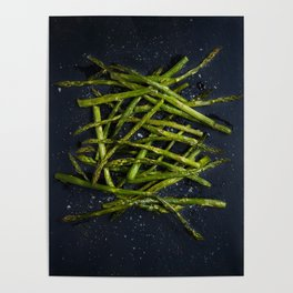 Grilled Asparagus Poster