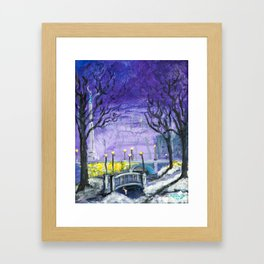 Night Freedom, Riga, Latvia Framed Art Print