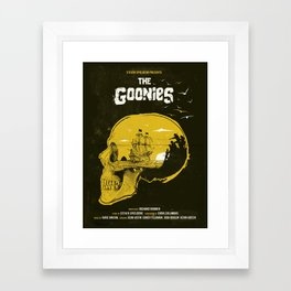 The Goonies art movie inspired Framed Art Print