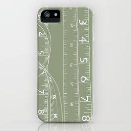 Fashion Measuring Tape - Sage iPhone Case