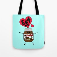 nutella Tote Bags featuring Nutella by Aurelie