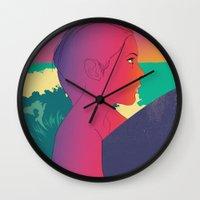 surfer Wall Clocks featuring Surfer by martiszu