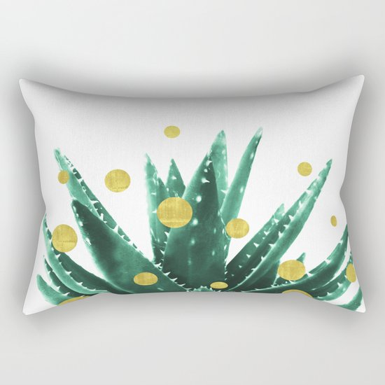 Christmas Succulent Rectangular Pillow