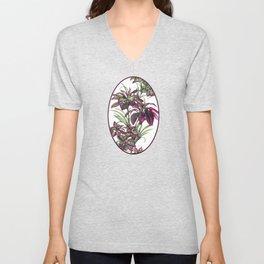 Tropical Leaves Sing Unisex V-Neck