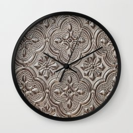 Silver Emboss Wall Clock