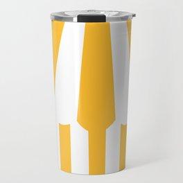 yellow tent Travel Mug
