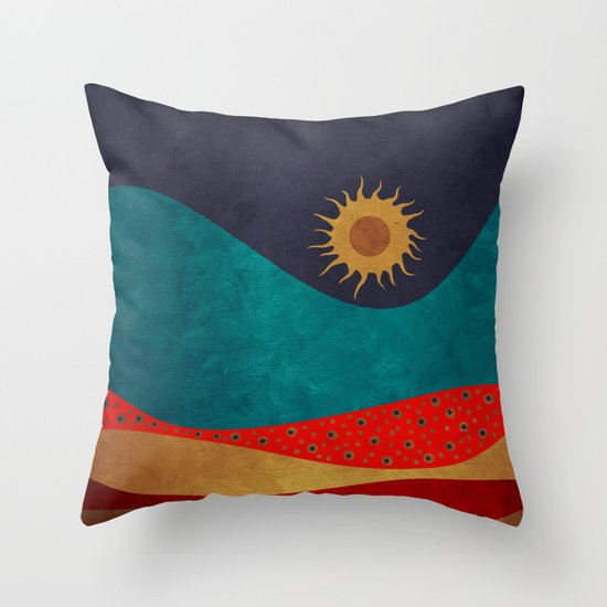 color under the sun Throw Pillow