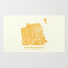 San Francisco City Map 03 Rug
