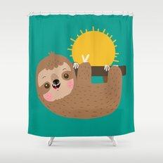 Happy Sloth Shower Curtain