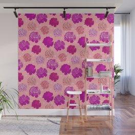 Romantic Pink Peonies Wall Mural