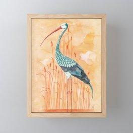 An Exotic Stork Framed Mini Art Print