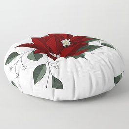 Nochebuena Poinsettia Floor Pillow