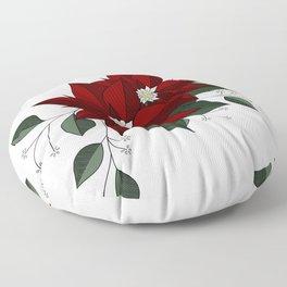 Nochebuena Poinsettia Floor Pillow