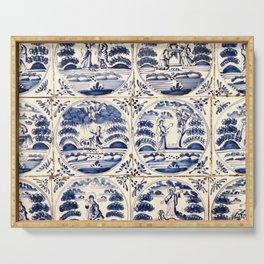 Dutch Delft Blue Tiles Serving Tray