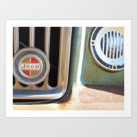 jeep Art Prints featuring Jeep by AnniarchyDesigns