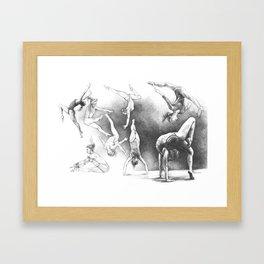 Gymnastics Framed Art Print