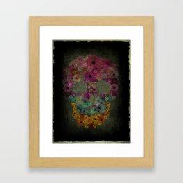 Flower Sugar Skull Framed Art Print