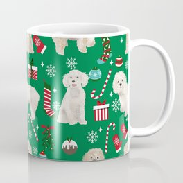 Cockapoo dog breed christmas holiday pet portrait pattern gifts Coffee Mug