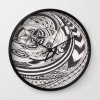 fibonacci Wall Clocks featuring Fibonacci Effect by SRC Creations