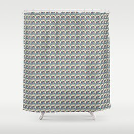 Birds - Deeppink Shower Curtain