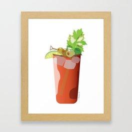 Canadian Ceasar - Best Drink Eh? Framed Art Print