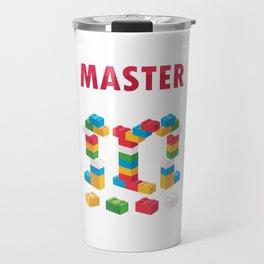 Toy Bricks Blocks Building Games Plaything Master Builder Gift Travel Mug