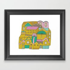 Pattern Project #2 / Happy Town Framed Art Print