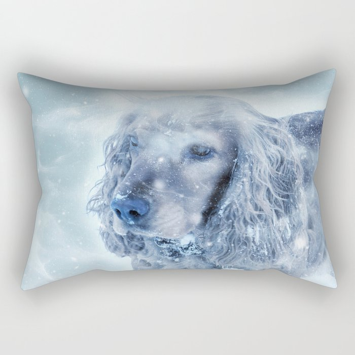 Winter Puppy Rectangular Pillow