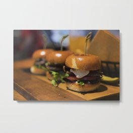 Yum Yum Sliders Metal Print
