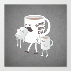 Good Dads Drink Coffee Canvas Print