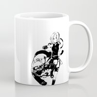 kakashi Mugs featuring Best Tag Team by xtcetera