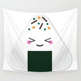 Happy onigiri Wall Tapestry