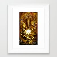 ganesha Framed Art Prints featuring Ganesha by Giorgio Finamore