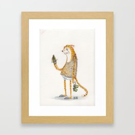 Urban Cheetah Framed Art Print