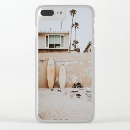lets surf viii / san diego, california Clear iPhone Case