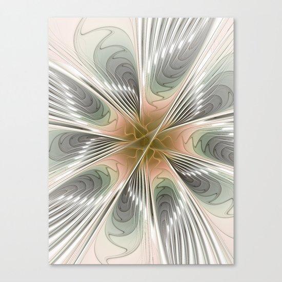 Floral Elegance, Modern Fractal Art Canvas Print