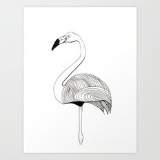Flamingo Sketch Art Print