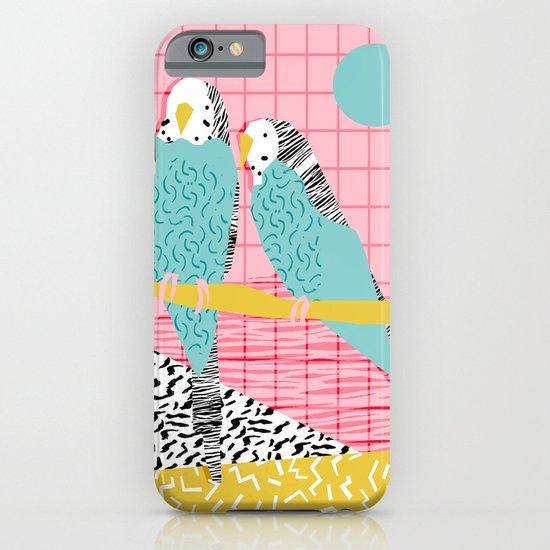 Hottie - throwback retro 1980s 80s style memphis dots bird art neon cool hipster college dorm art iPhone & iPod Case