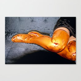 Boots of Gold Canvas Print