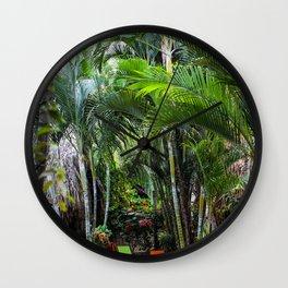 Dreamy Jungle Garden Wall Clock