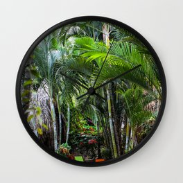 Dreamy Jungle Garden Wall Clock