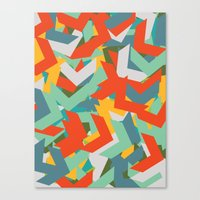 chevron Canvas Prints featuring Chevron by INDUR