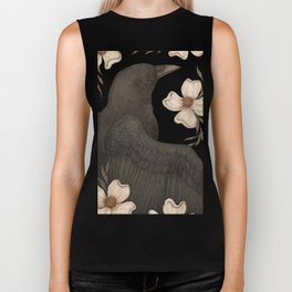 The Crow and Dogwoods Biker Tank